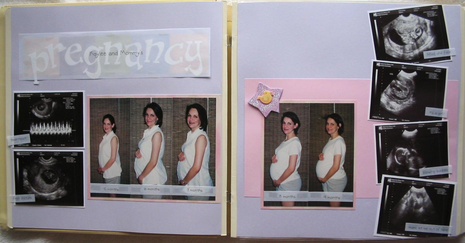 Baby Album Pregnancy Page